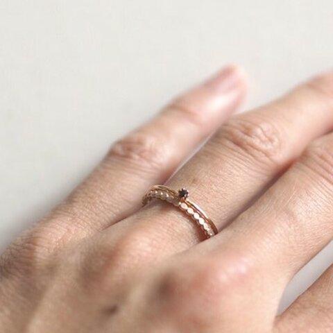 一粒ブラックダイヤモンドのリング