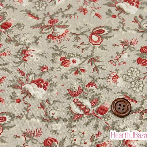 USAコットン moda Jardin de Fleurs パラダイス ロシュ 生地 布 花柄