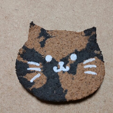 ネコちゃんのコルクコースター 2枚1セット