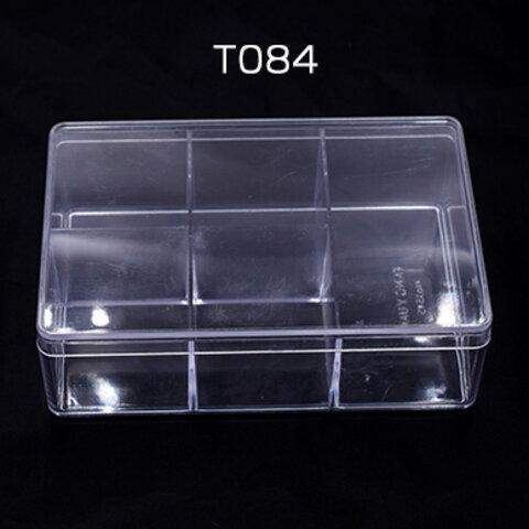 T084   3個   アクセサリーケース 長方形 10×15×4.5cm クリア ※ネコポス不可 3×【1ヶ】