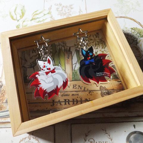 九尾の狐アクリルキーホルダー【再販3】