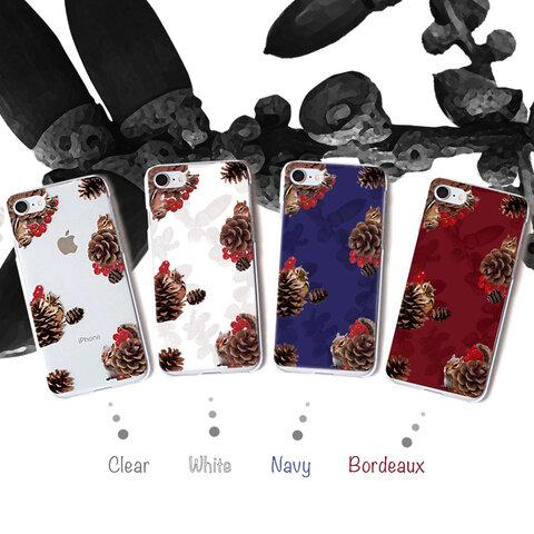ひょっこりリスと松ぼっくり iPhone13mini スマホケース