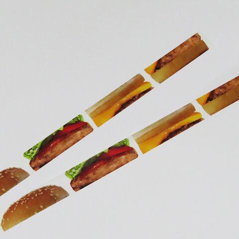マスキングテープ 「ハンバーガー風」