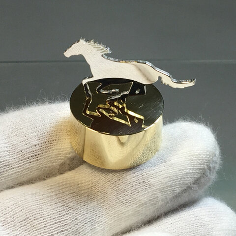 Horse-1 Mini PaperWeight Silver+Brass <order production 5days>