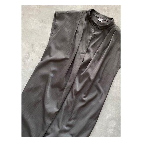 【型紙】コクーンシルエットのシャツワンピース(FBOP-03)