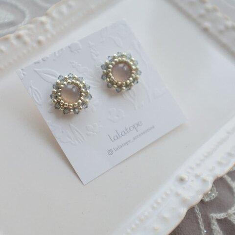 Beads* Gemstone -  glay Quartz