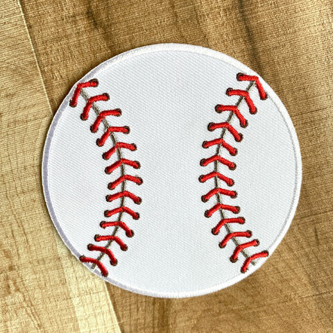 【大きい】野球ボール アップリケ (PM-Baseball)