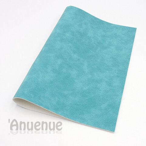 フェイクレザーフェルト A4( Turquoise / Stone wash )