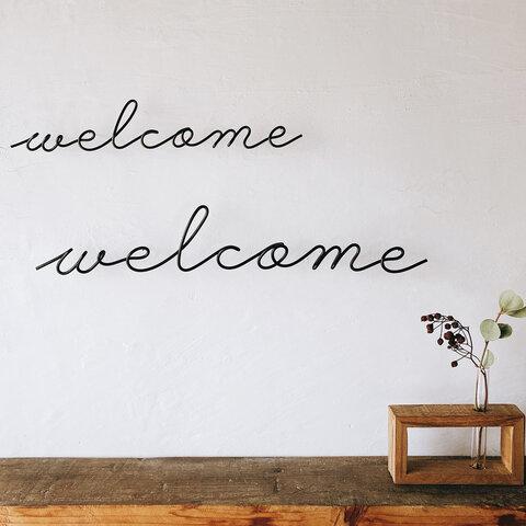 welcome Mサイズ (虫ピン付属)ワイヤー レタリング