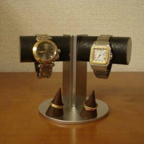 腕時計 飾る 支柱角度付き2本掛けディスプレイスタンド リングスタンド No.120913