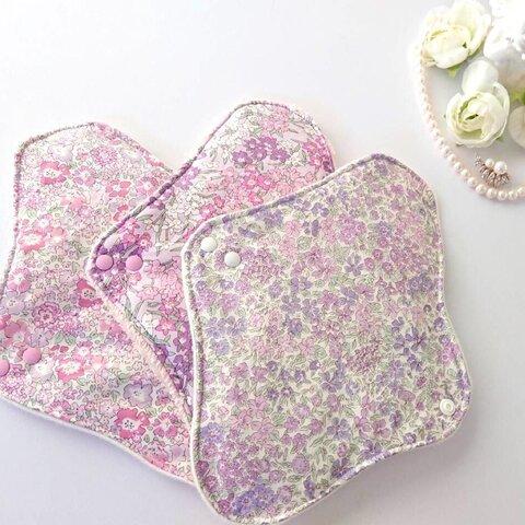 リバティ 布ナプキン3枚セット 冷えとり、温活にも 小花柄セット