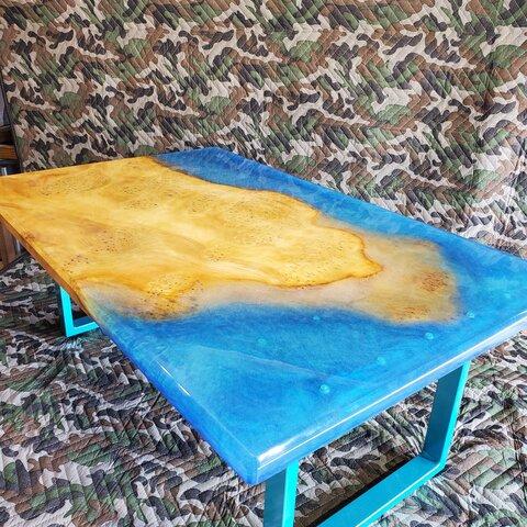 銀杏(イチョウ)無垢一枚板 アイランドテーブル