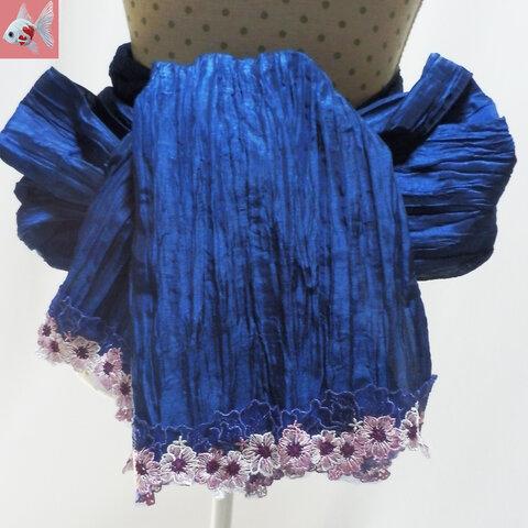 ◆花刺繍の兵児帯②