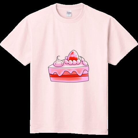 イチゴショートケーキの定番Tシャツ★ライトピンクカラー