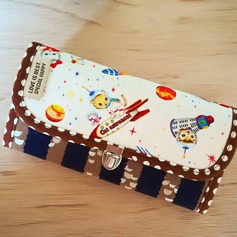 猫ちゃん♥長財布🖤ねこ♩かわいい♪財布♪