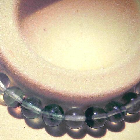 ★天才の石★悩みの解決 受験のお守り フローライト 8mm ノーマル ブレス