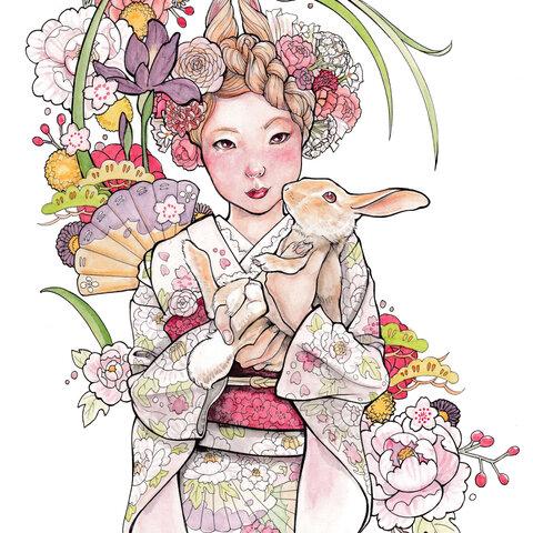 「春迎え」ポストカード
