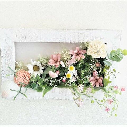 壁掛け    ミルキーピンク     玄関、結婚記念日、母の日、ウェディング、記念日ギフト,ニッチなど。
