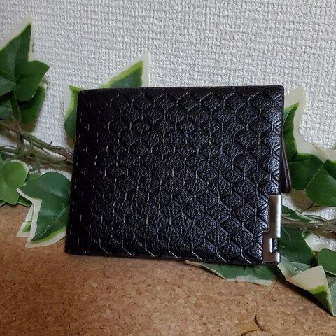 新品未使用 2つ折り財布 ブラック ウォレット