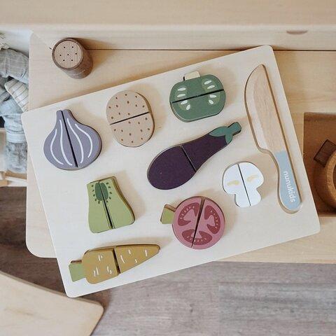 木製おもちゃ おままごと 野菜セット 予約品