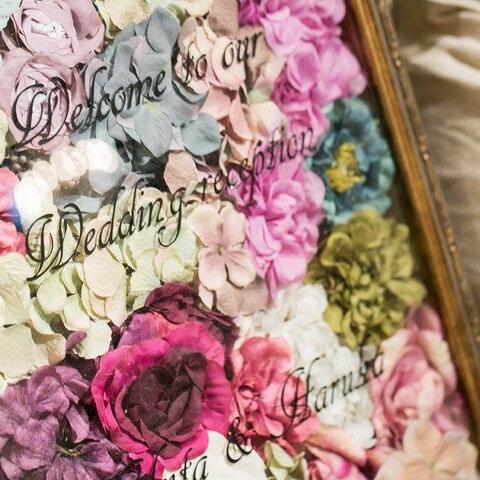 【存在感満点◎B3】ボタニカルウェディングに  ♡ お花いっぱいのウェルカムボード