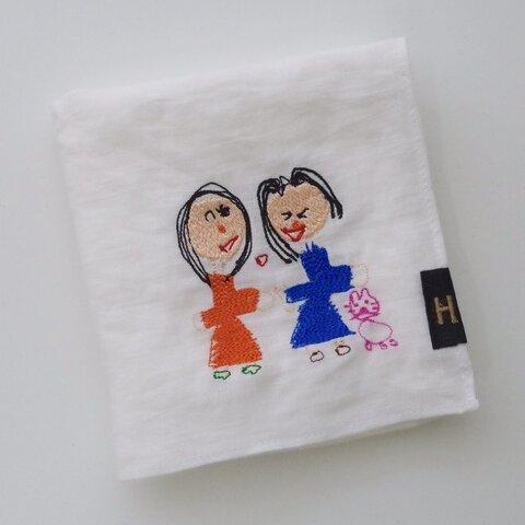 【オーダー刺繍】リネンハンカチ