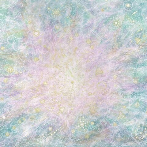 ヒーリングアート(絵画)『安寧の炎』A4ジクレーアート