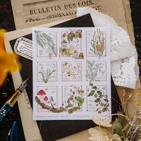 「新野地花礼2」切手型封緘飾りシール