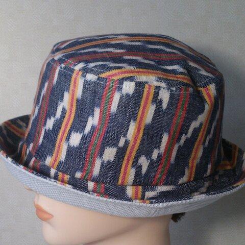 魅せる帽子☆ストライプが楽しい♪和柄のリバーシブルハット