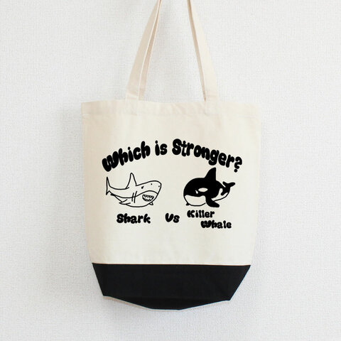 サメとシャチはどっちが強いの? トートバッグ