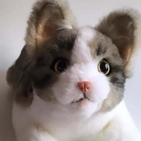 <受注制作>サバトラ猫のぬいぐるみ