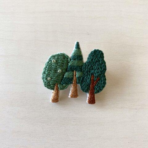 【受注制作】木立のブローチ