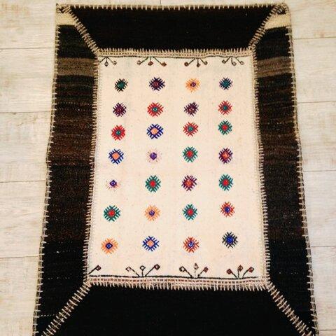 送料無料✳︎ 手織りラグ  パッチワーク キリム kilim