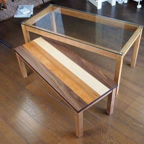 【送料無料】Nordic Nest Glass Table