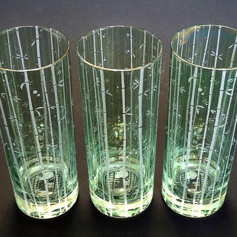 竹林と蛍火のコリンズグラス