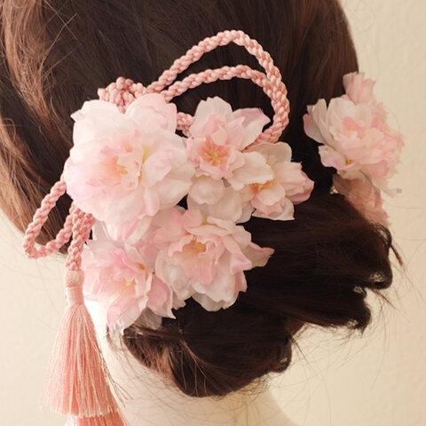 【成人式髪飾り】桜の髪飾り☆ヘッドパーツ☆ヘッドドレス☆髪飾り