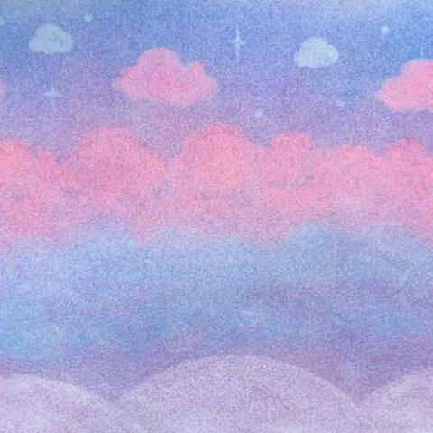 ピンクの夕焼け~原画~