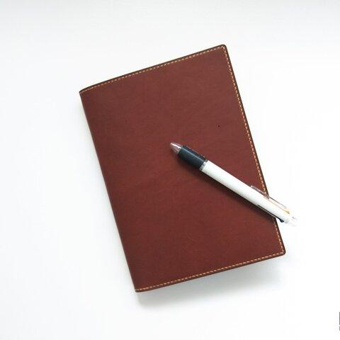 色が選べる【段差ができないノートカバー】A5版ノート対応【本革】刻印可(受注製作)
