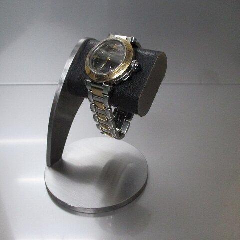 新作 ヘアーライン仕上げブラックシングル腕時計スタンド 190124