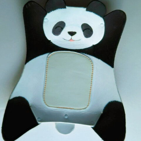牛革製トレイ大「大熊猫」