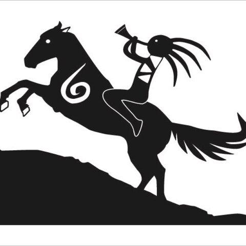 馬乗りココペリ カッティングステッカー 幸運のお守り 使い方色々 車 インテリア ネイティブ・アメリカン