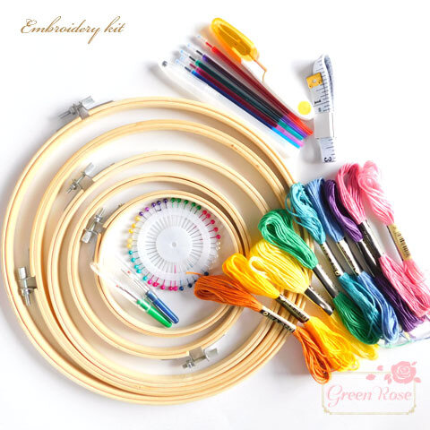 カラフル糸たっぷり刺繍キット 1セット /kit-06