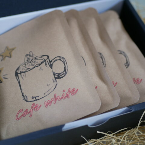 カフェ・ホワイト ドリップバッグギフト(11g×5袋 中挽き)