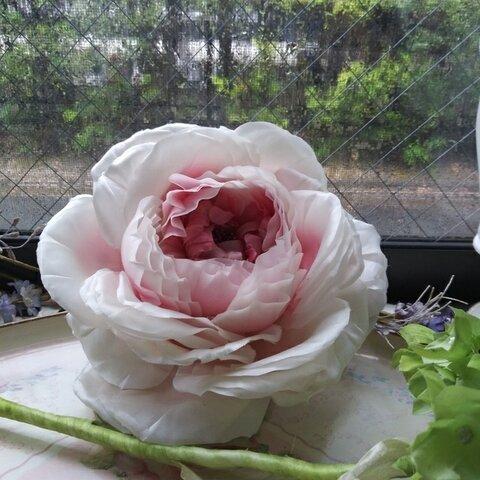 コサージュ 薔薇 淡ピンク