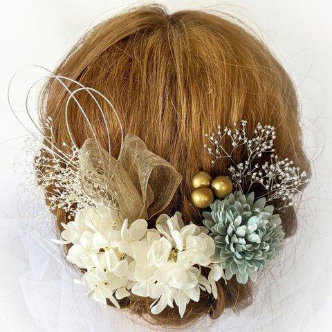 【All.2000円】の髪飾り ドライフラワー 卒業式 結婚式 成人式