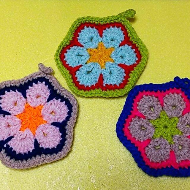 アクリル たわし 手編み